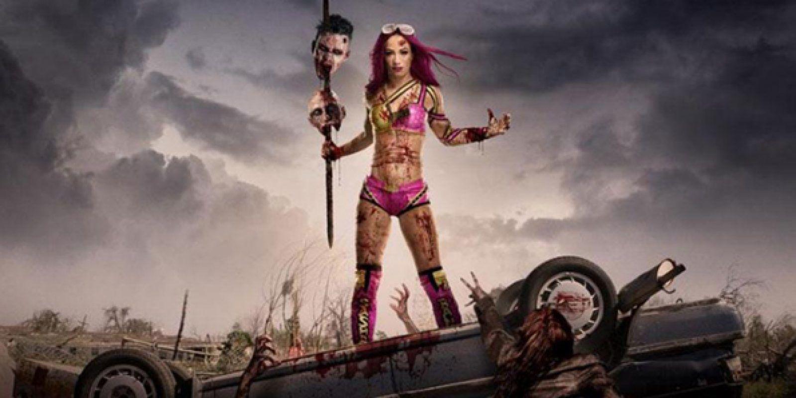 """Las estrellas de WWE se disfrazan de zombies de """"The Walking Dead"""". Imagen Por: WWE"""