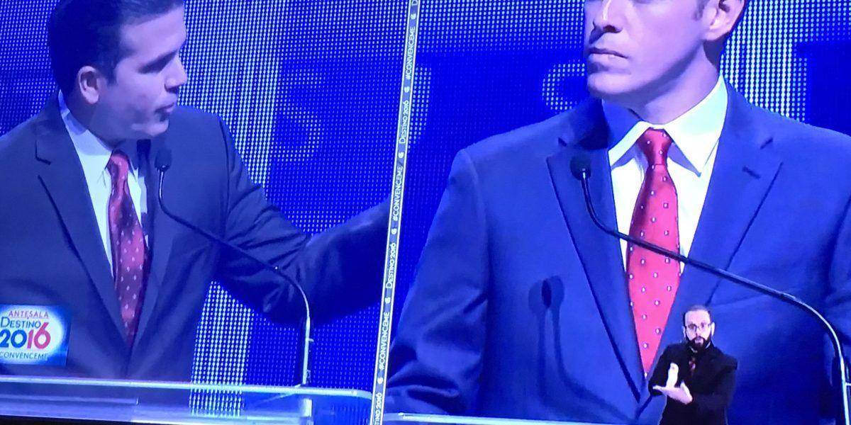 ¿Bernier y Rosselló con la misma corbata en el debate?