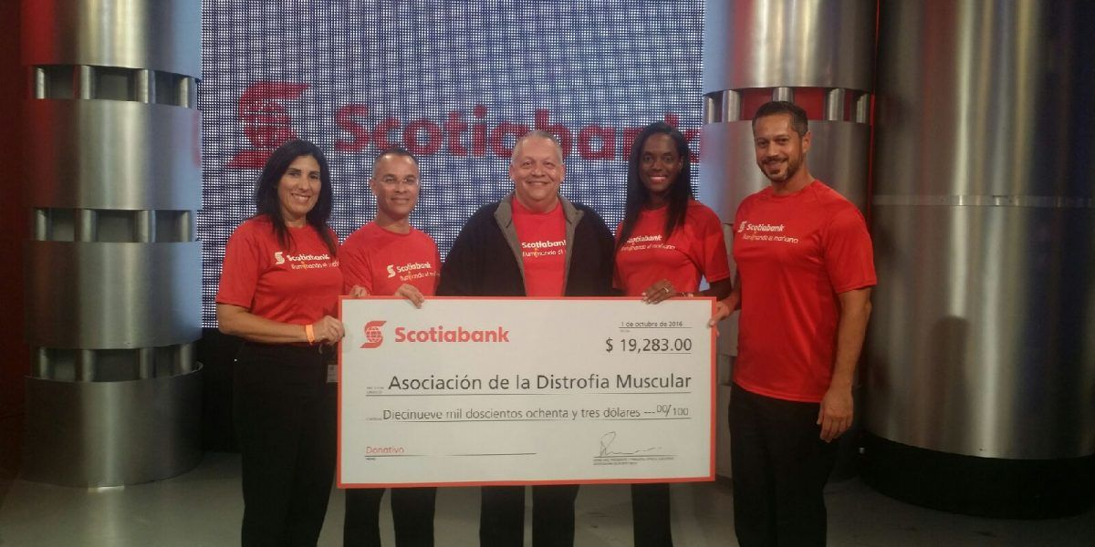 Scotiabank entrega donativo a MDA