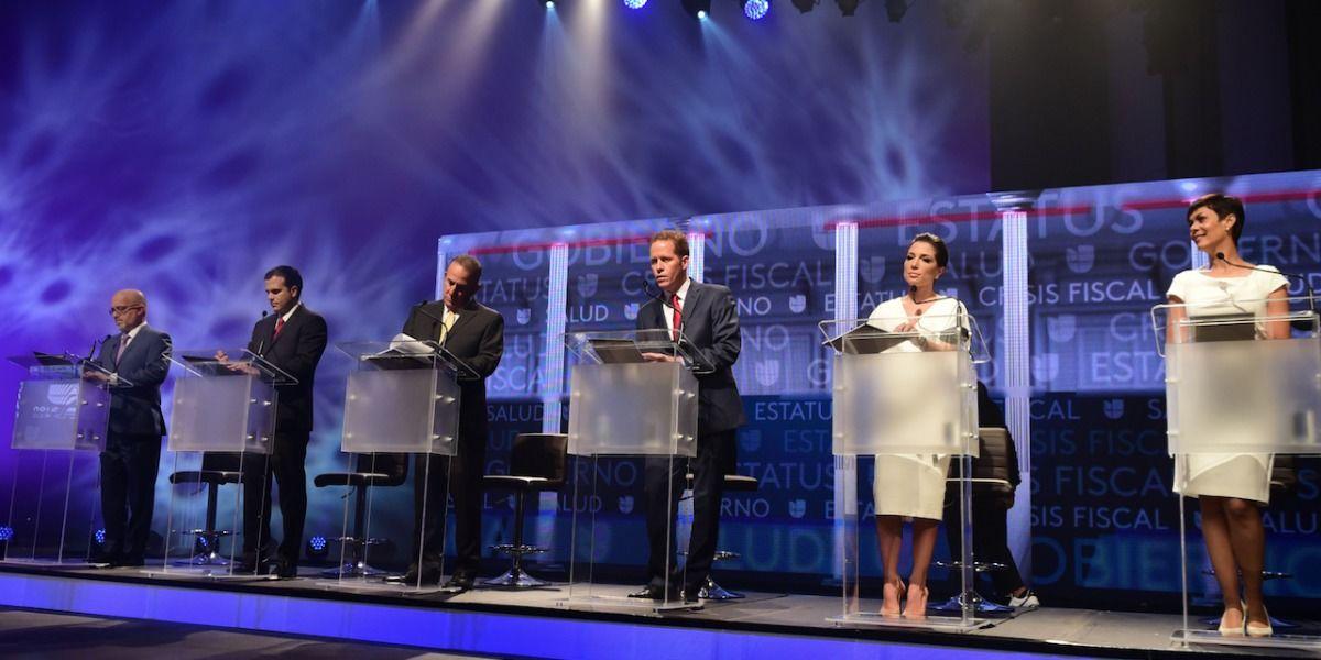 Candidatos a la gobernación intercambian golpes en último debate televisado