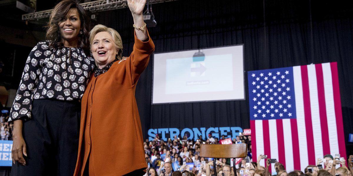 MIchelle Obama reafirma su total apoyo a Hillary Clinton