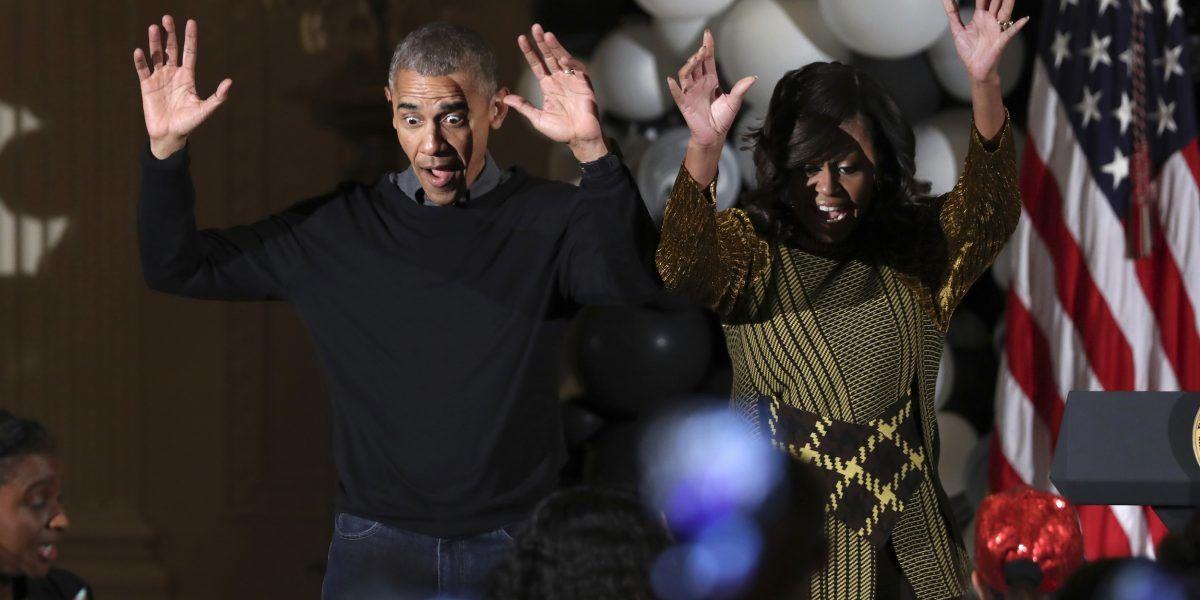 Barack y Michelle Obama celebran Halloween en Casa Blanca