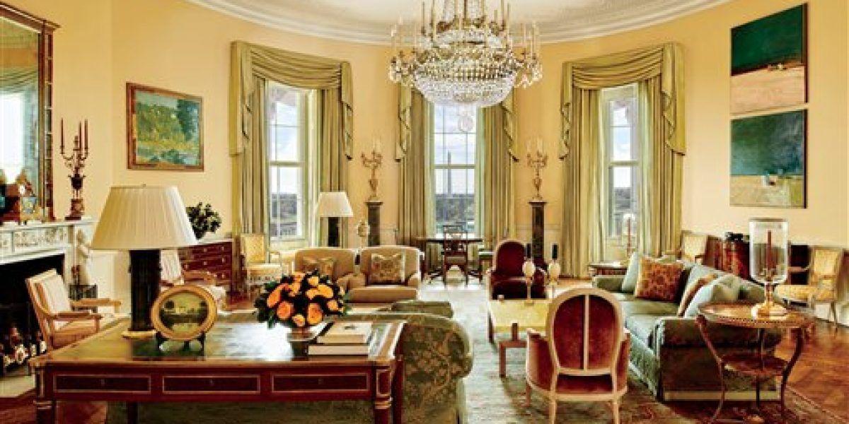 Revelan fotos de salones privados de la Casa Blanca