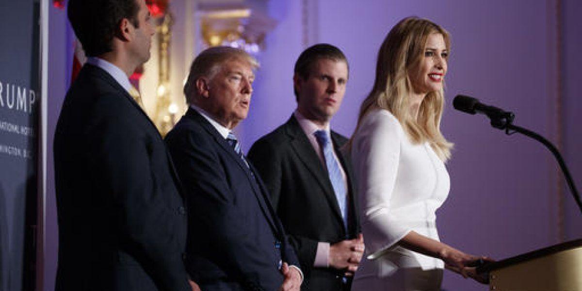 Hijos de Trump se hacen cargo de negocios