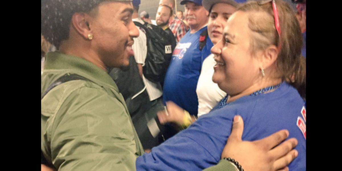 Lindor felicita a madre de Javier Báez