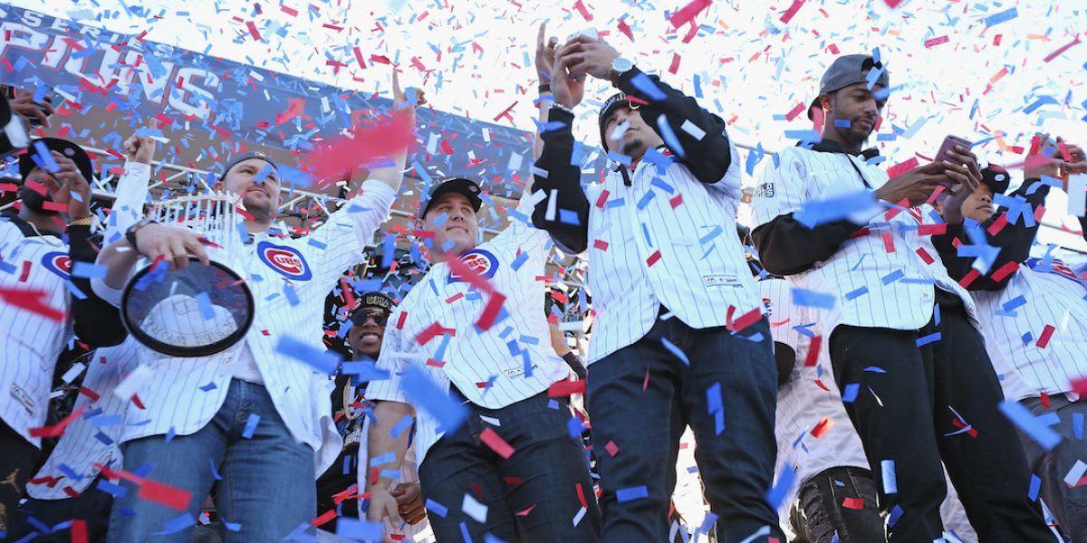 Chicago Cubs celebran su victoria en Disney