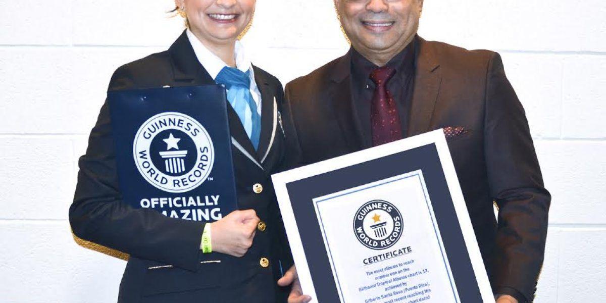 Gilberto Santa Rosa recibe Guinness World Records
