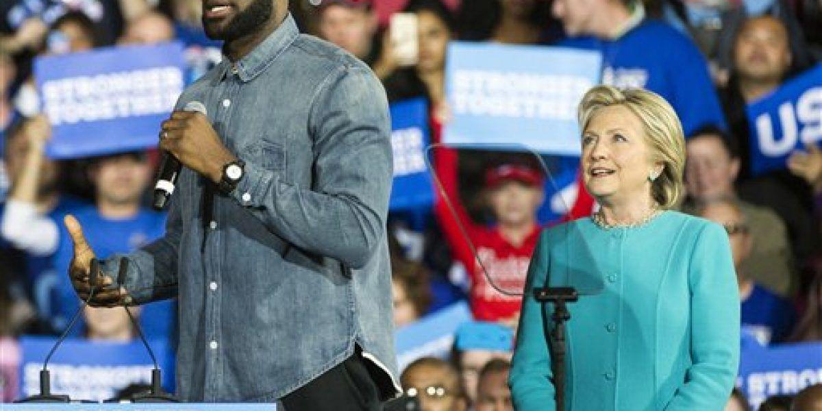 LeBron hace campaña por Clinton en Ohio
