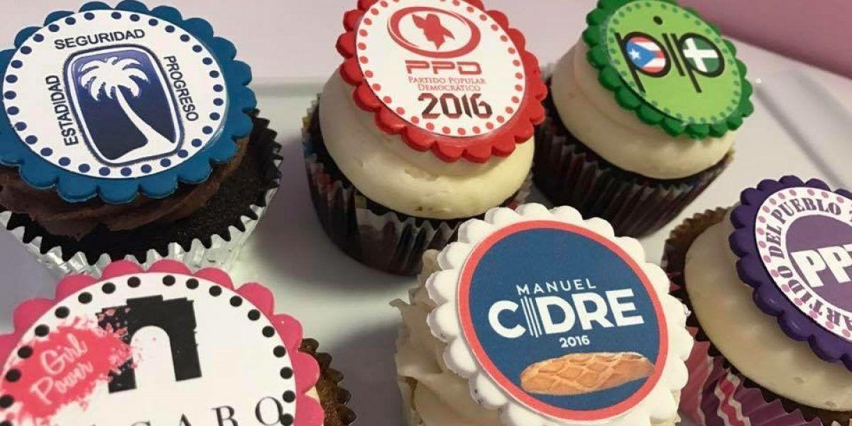 Tienda de cupcakes se une a la fiebre electoral