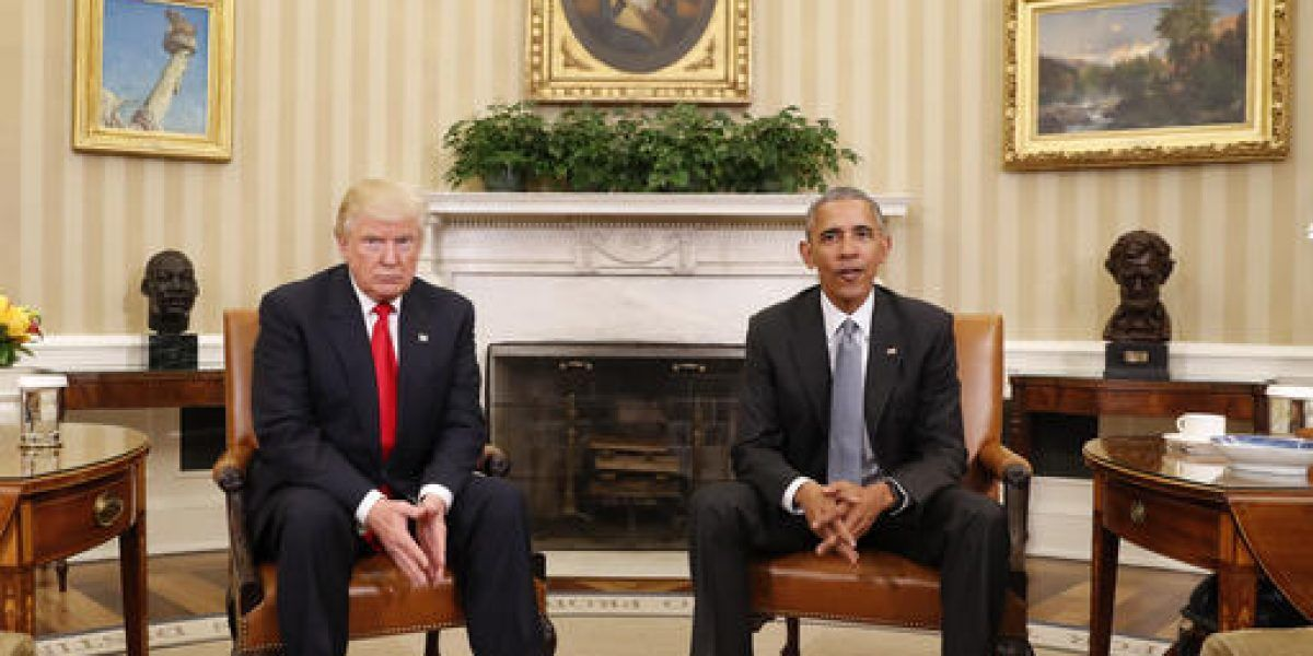 Trump se reúne con Obama