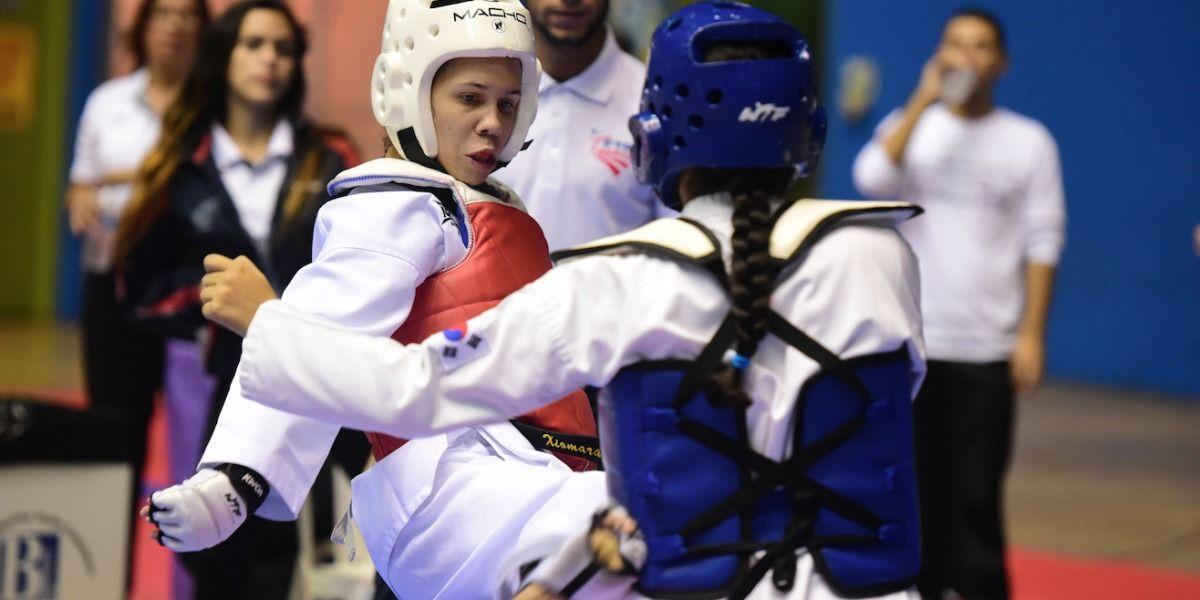 En escenario la juventud del taekwondo en el Abierto Ineabelle Díaz