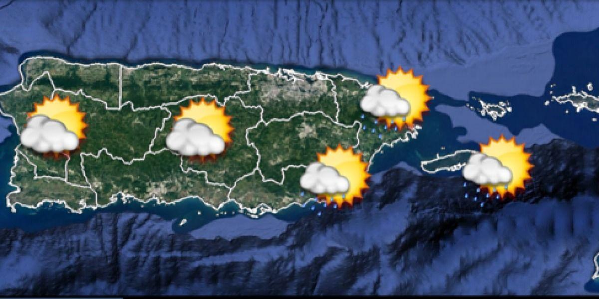 Humedad relativamente alta para la Isla
