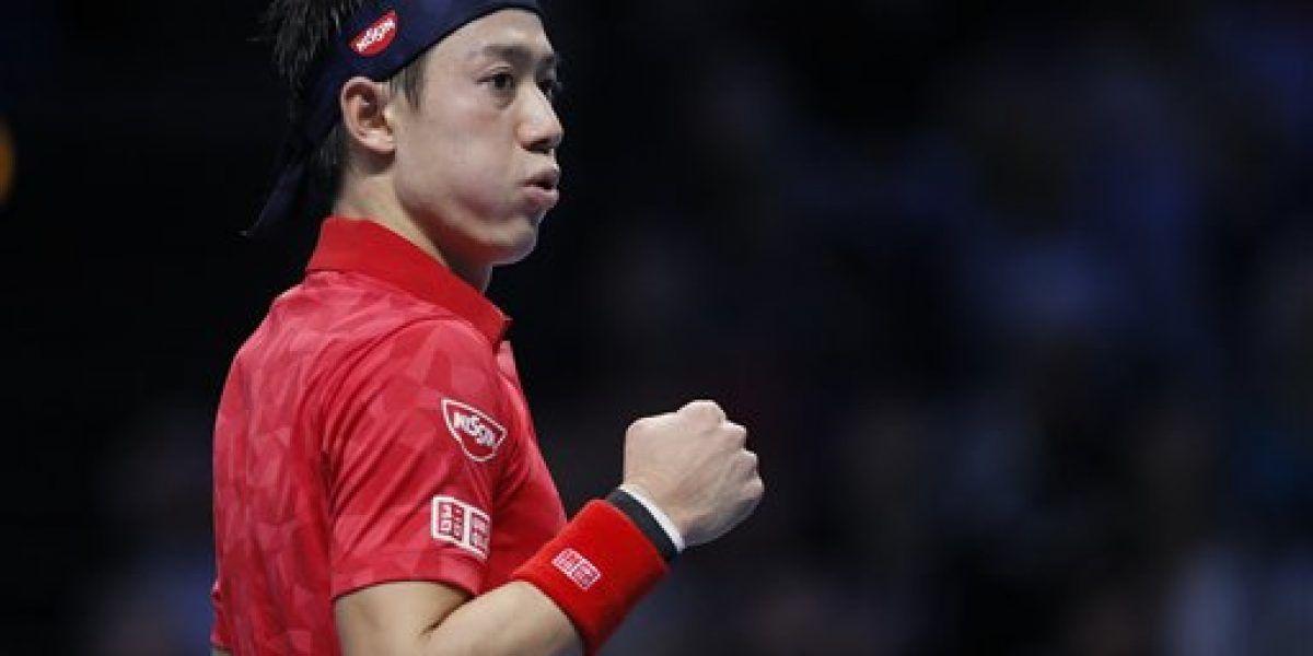 Nishikori vence a Wawrinka en sets seguidos en Copa Masters