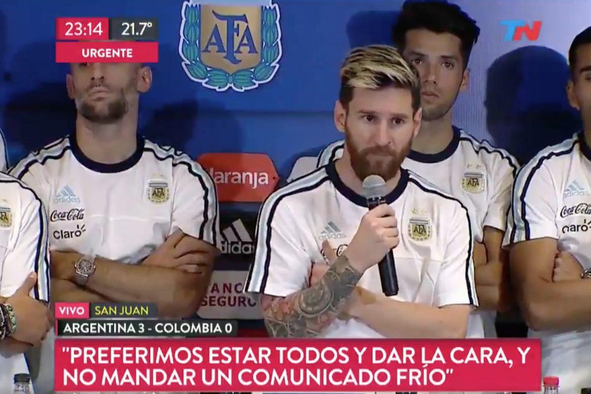 Messi y la selecci n argentina no hablar n m s con la for Ultimos chimentos dela farandula argentina 2016