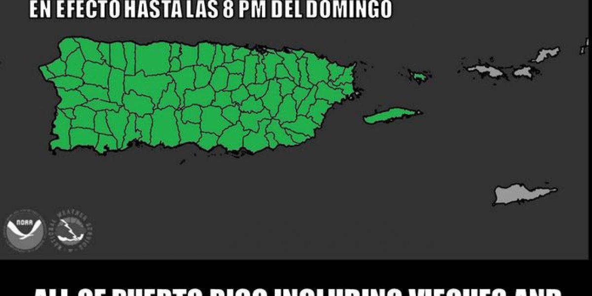 Extienden aviso de inundaciones repentinas a Vieques y Culebra