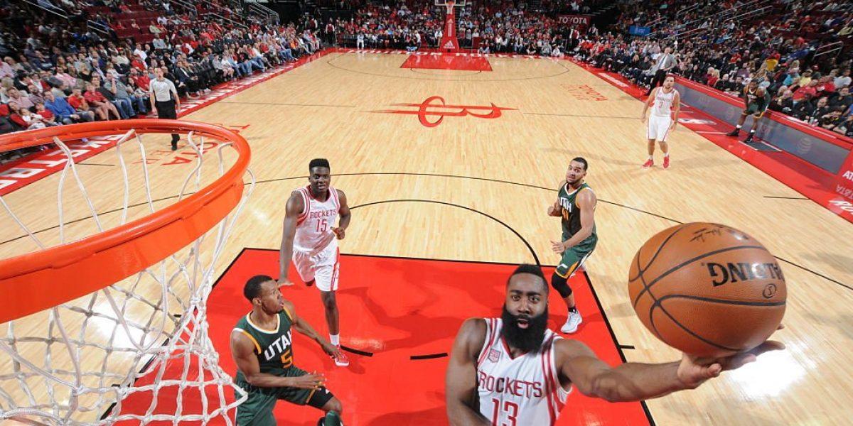 Doble doble de Harden lidera victoria de Rockets sobre Jazz