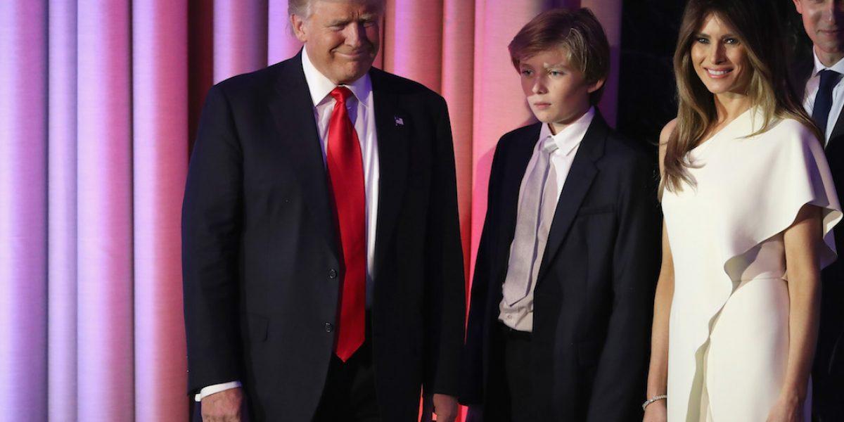 Esposa e hijo de Trump podrían no mudarse a la Casa Blanca