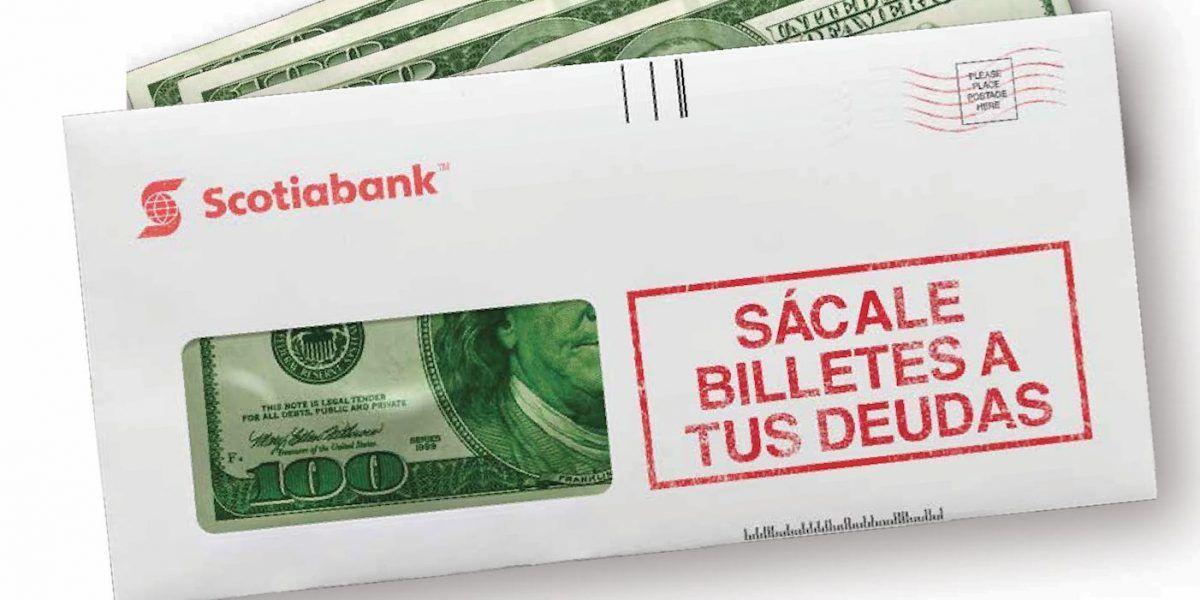 """Scotiabank invita a sus clientes a """"sacarle"""" ganancias a las deudas"""