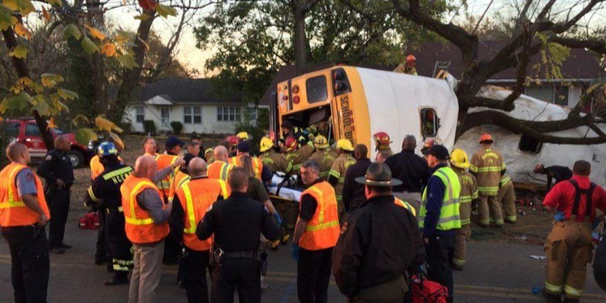 Fatal accidente de autobús de escuela primaria en Tennessee