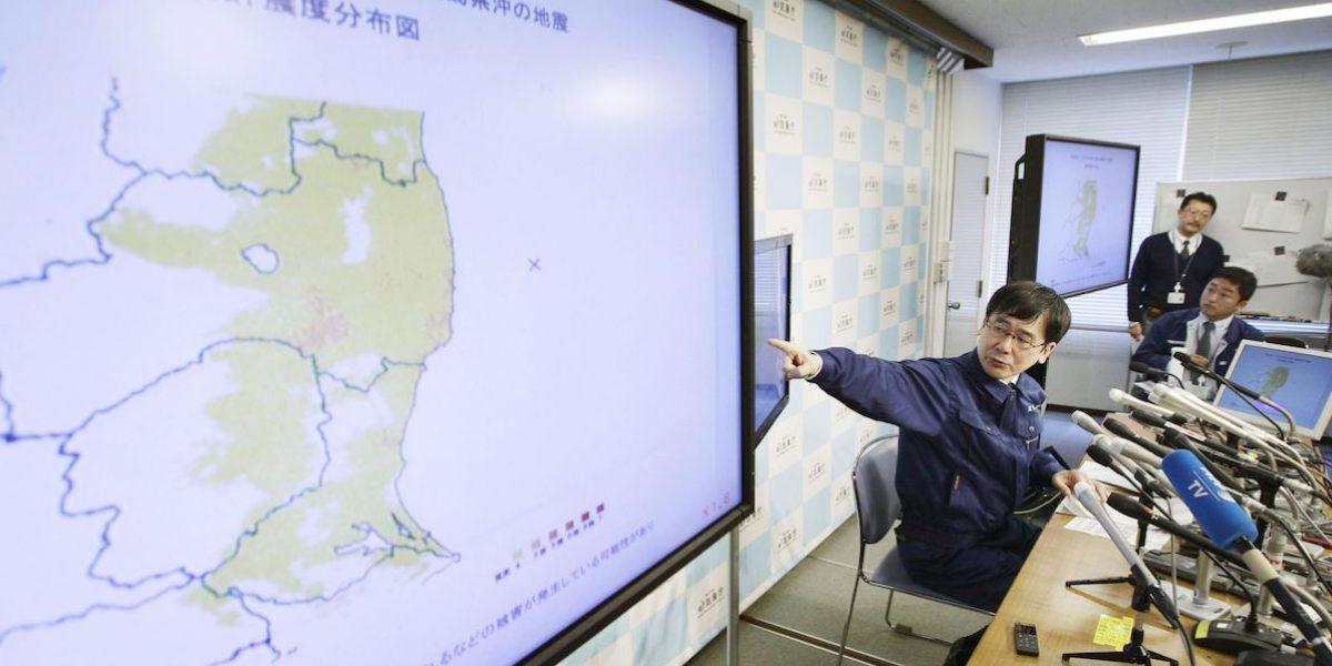 Nuevo sismo azota Fukushima; no hay alerta de tsunami