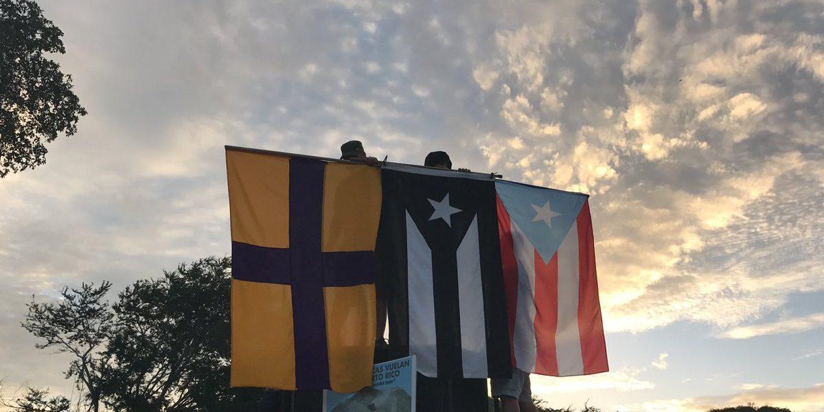 Llegan manifestantes a repudiar el depósito de cenizas en Peñuelas