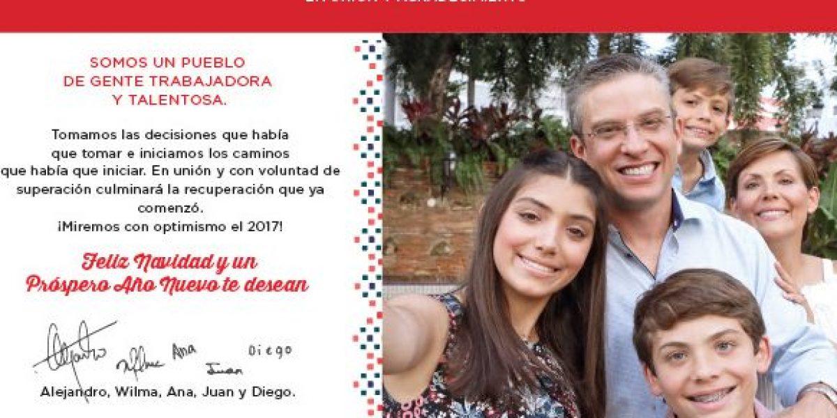 Gobernador envía tarjeta de Navidad al pueblo