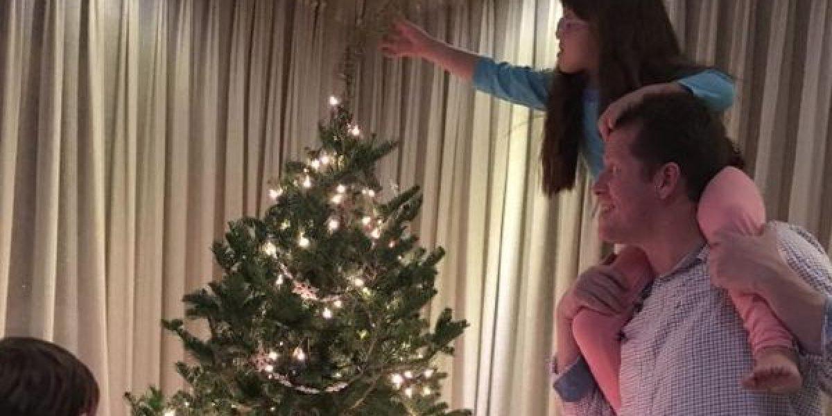 Llega la Navidad a casa de Alexandra Fuentes y David Bernier