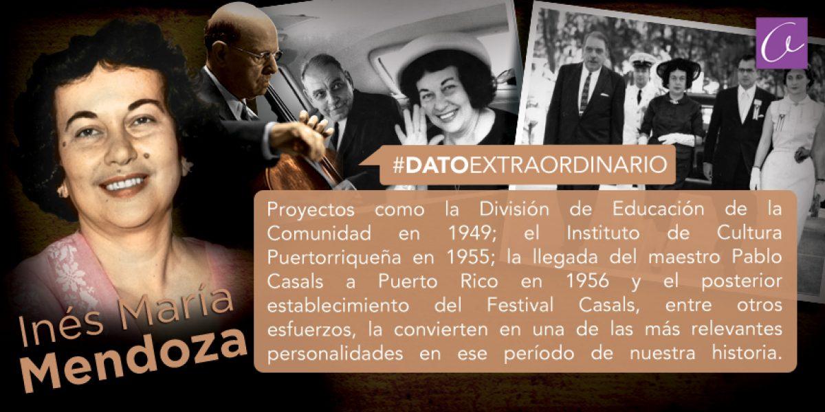 Dato Extraordinario de Inés María Mendoza