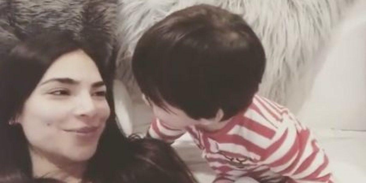 Hijo de Alejandra Espinoza es locura con su madre