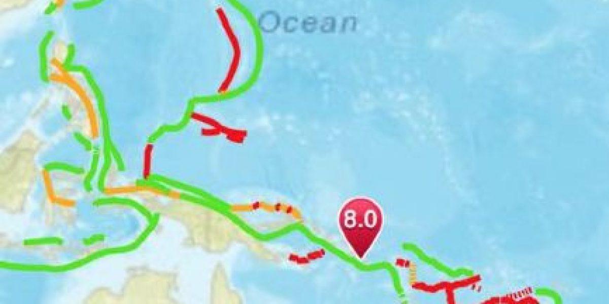 Sismo 8.0 activa alerta de tsunami para Islas Salomón