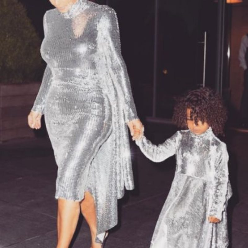 Kim Kardashian y su hija North West. Imagen Por: