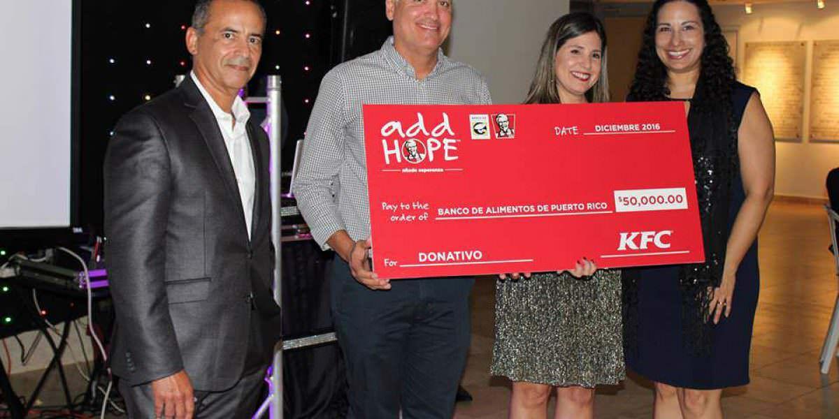 KFC entrega donativo de $50,000 al Banco de Alimentos de Puerto Rico