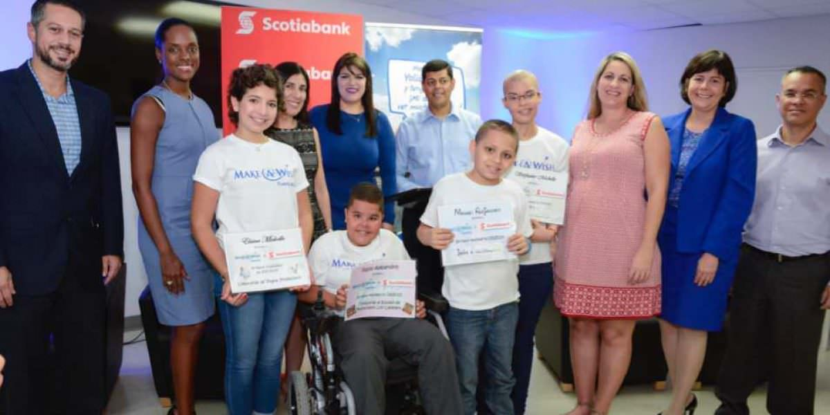 Scotiabank entrega donativo a Make a Wish Foundation