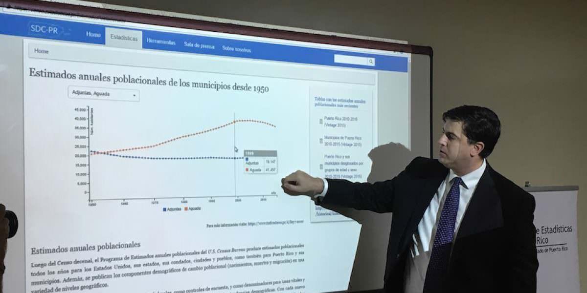 Lanzan portal de estadísticas de la Oficina del Censo en Puerto Rico