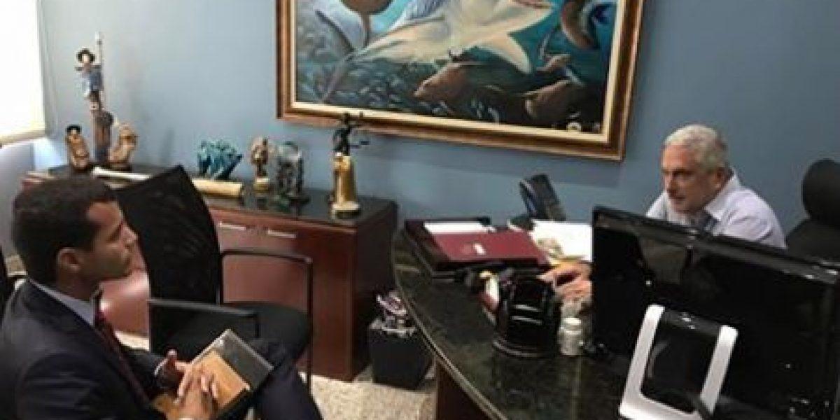 Michael Pierluisi se reúne con Rivera Schatz