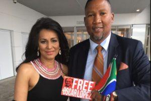 Nieto de Mandela se une a pedido de excarcelar a Oscar López