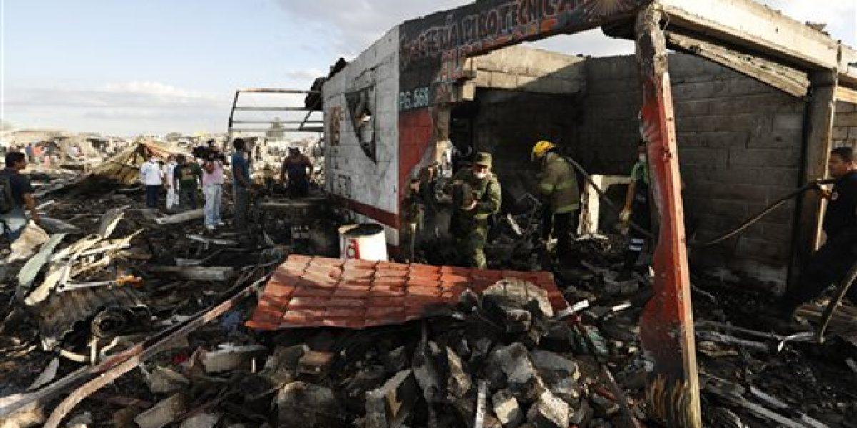 Aumenta número de muertos por explosión de pirotecnia en México