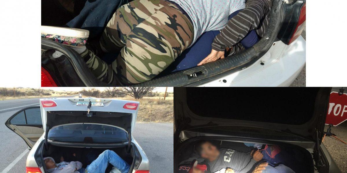 Cruzar la frontera en el baúl de un auto, todo un peligro de muerte