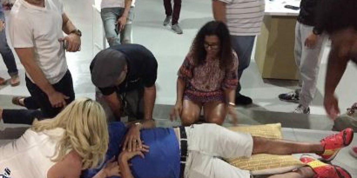 Francis Rosas termina en silla de ruedas por querer cargar a actriz