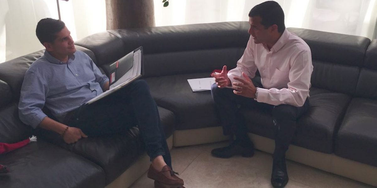 Michael Pierluisi se reúne con Nery Adames