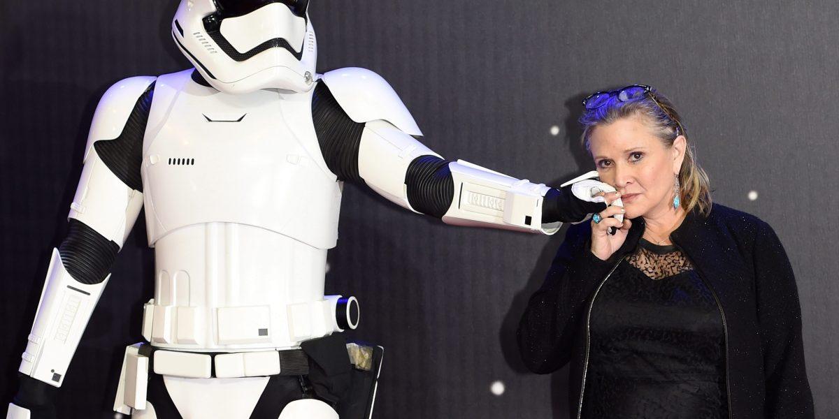 Actriz de Princess Leia en intensivo tras ataque cardíaco
