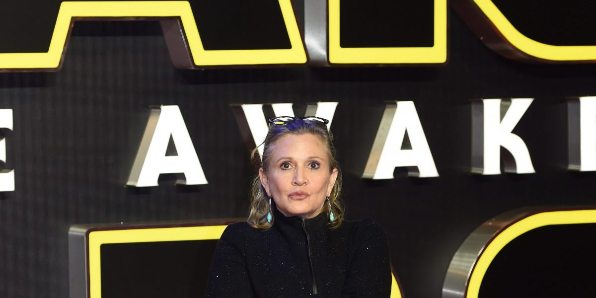 Carrie Fisher estable tras sufrir un infarto
