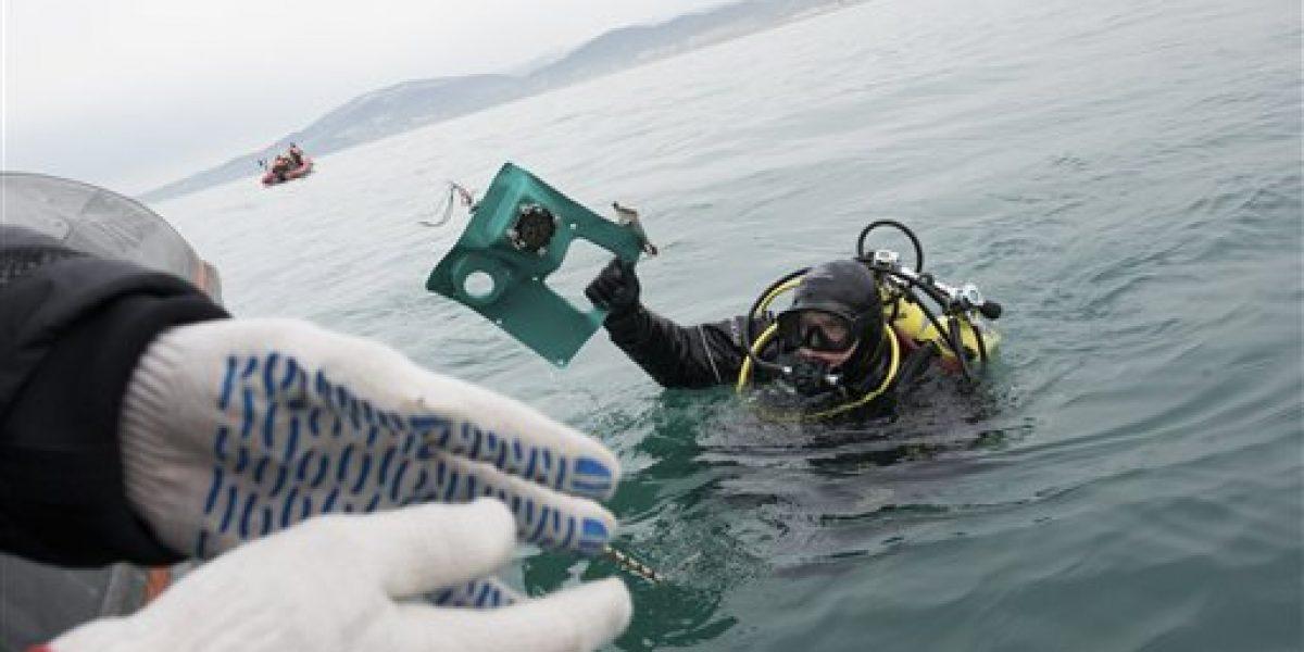 Aparece segunda caja negra de avión estrellado en Mar Negro