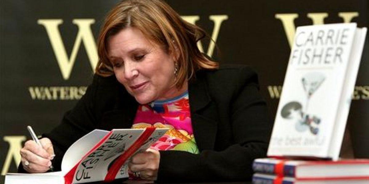 Admiradores corren a comprar libros de Carrie Fisher