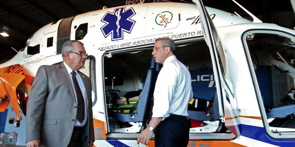 Gobernador entrega helicóptero que se usará de ambulancia aérea