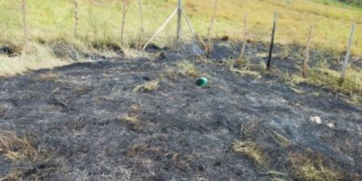 Reportan incendio en terrenos en Lajas