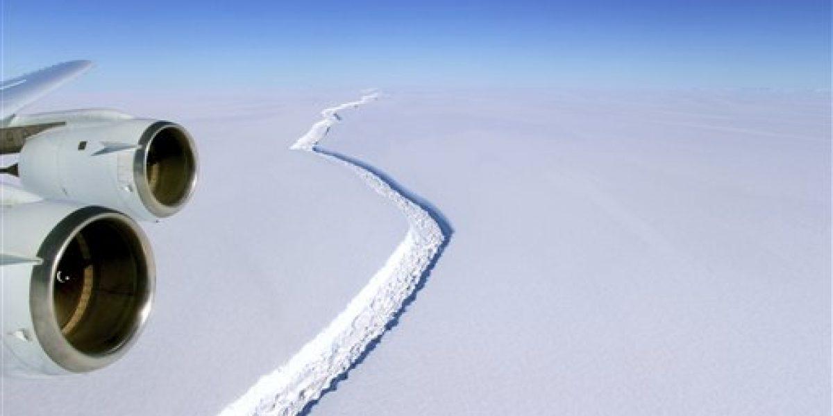 Sin preocupaciones científicos tras crecimiento de grieta en Antártida