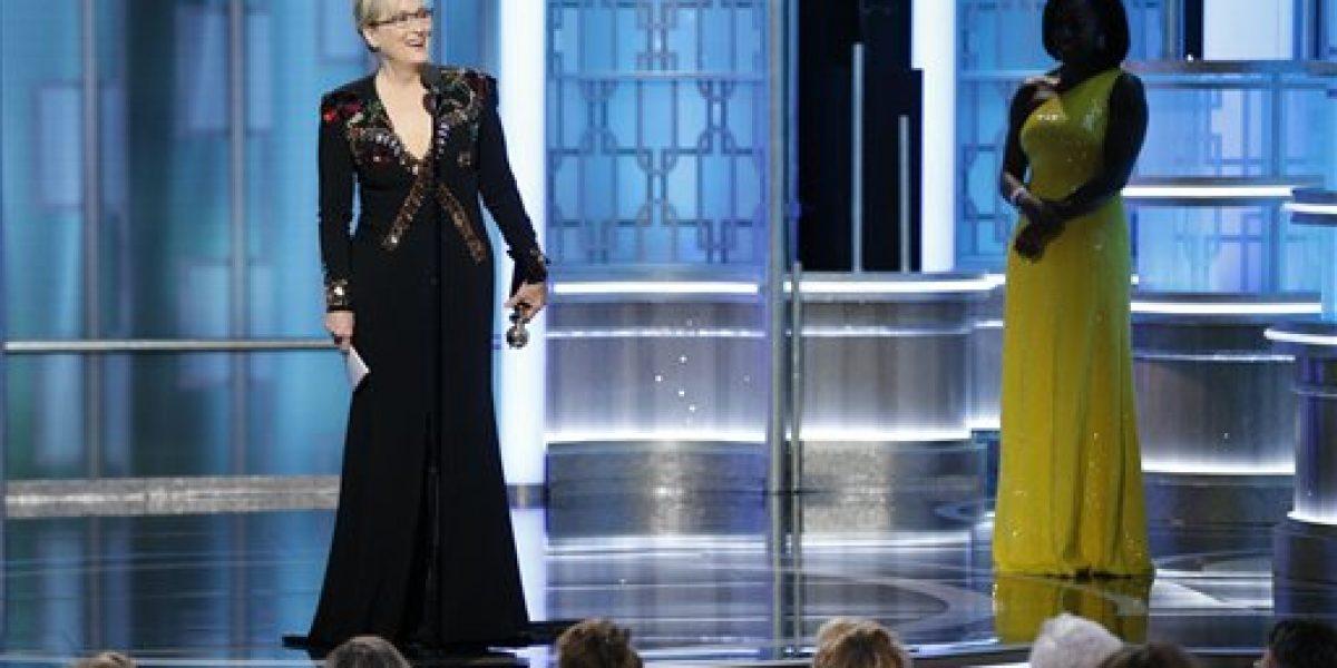 Meryl Streep critica a Trump en los Globos de Oro 2017
