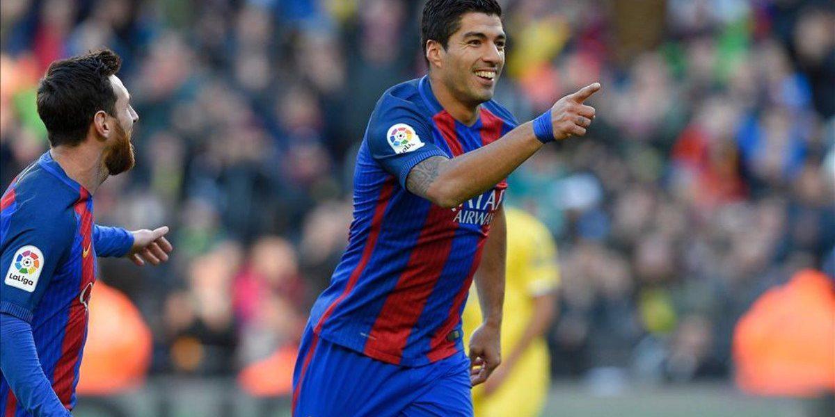 Doblete de Suárez y 5-0 sobre Las Palmas