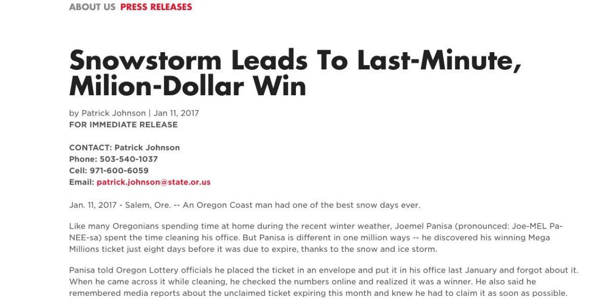 Limpió la casa y encontró boleto ganador de lotería valorado en $1 millón